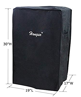 "Hongso 30-Inch 40-Inch Electric Smoker Cover for 30"" 40"" Masterbuilt Electric Smoker and Others, Black"