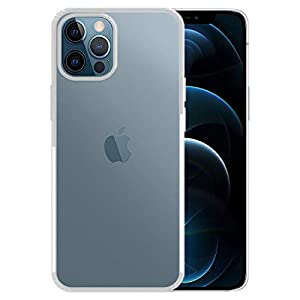 Amazon Brand – Solimo Anti Dust Plug Mobile Cover (Soft & Flexible Back case), for Apple iPhone 12 Pro Max (Transparent)