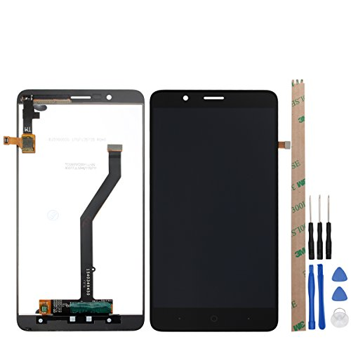 HYYT Replacement For ZTE Blade Z MAX Z982 Z max Pro2 LCD Digitizer Screen Replacement LCD Display and Touch Screen Digitizer Glass Replacement Assembly (black) (Z982)