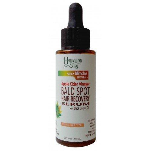 Hawaiian Silky Apple Cider Vinegar Bald Spot Recovery Serum, 1.76 fl oz - with Black Castor Oil - Hair Growth Solution for All Hair Types - Good on Color Treated Hair