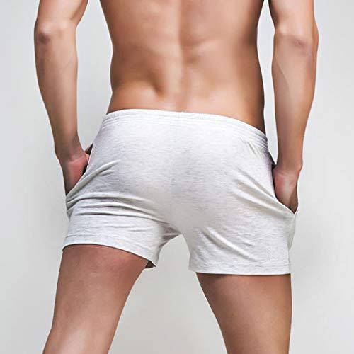 Pantaloncini Boxer Fitness Domestici Colore Bianca Sport Pantaloni Sexy Casual Corta uomo Uomo Paolian Pure Spiaggia vg1dAvq