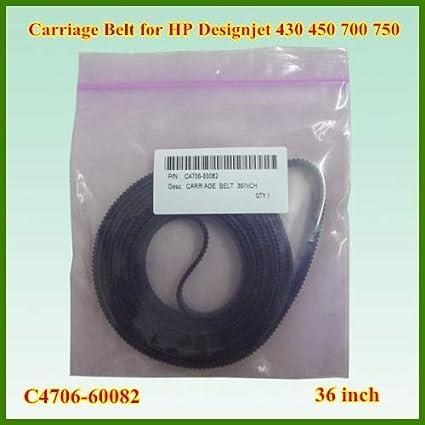 Yoton C4706-60082 - Correa de transmisión para HP Designjet 430 ...
