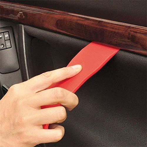 rouge ensemble enl/èvement levier outils voiture automatique radio kit de r/éparation audio porte tableau de bord garniture levier levier panneau st/ér/éo installateur avec sac en tissu 11pcs