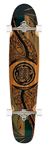 Bamboo Skateboards Hard Good Mirrored Sea Long Board Complete, 42 x 9.25-Inch, Natural