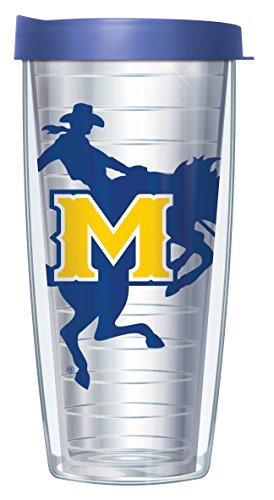Mcneese State University Basketball (Mcneese State University Large Logo Clear 22 Oz Traveler Tumbler Mug with Lid)