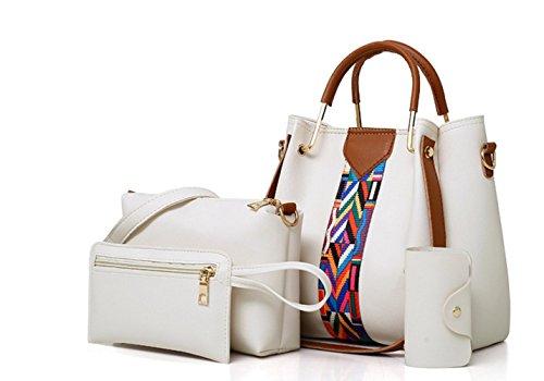 Bolso de la y de paquetes bolsa de de gran para tamaño hombro minimalistas de tarjeta la la White de gran bolsa de de tamaño bolsos viaje cuatro mensajero piezas de mujer gxwYqrgnE4
