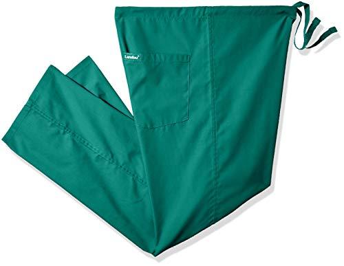 - Landau Unisex Reversible Drawstring Scrub Pants, Hunter Green, Large Petite