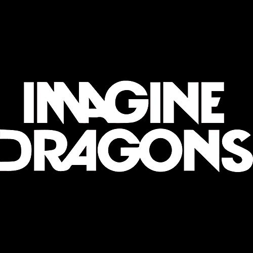 (NBFU DECALS Imagine Dragons Logo (White) (Set of 2) Premium Waterproof Vinyl Decal Stickers for Laptop Phone Accessory Helmet CAR Window Bumper Mug Tuber Cup Door Wall Decoration)