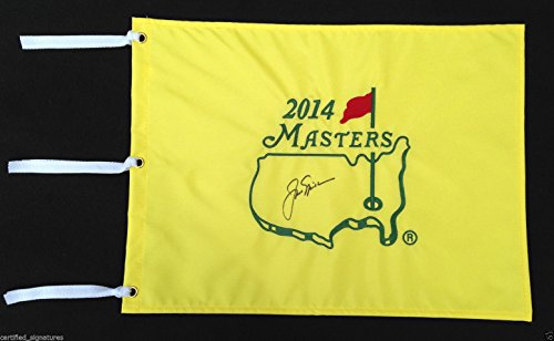 JACK NICKLAUS SIGNED 2014 AUGUSTA MASTERS GOLF PIN FLAG US OPEN PROOF COA K3