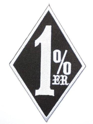 "One Percenter 1%er Biker Outlaw Iron On Black Chopper Patch 4.2""/10.8cm x 2.2""/5.8cm By MNC Shop"