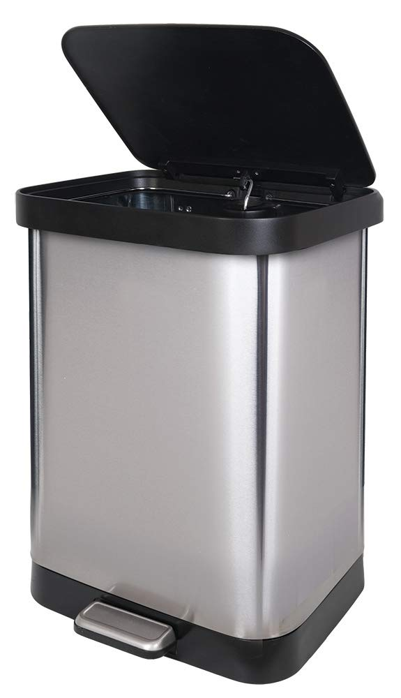 GLAD GLD-74506 Stainless Steel Step Trash Can with Clorox Odor Protection of The Lid   Fits Kitchen Pro 13 Gallon Waste Bags by Glad (Image #8)