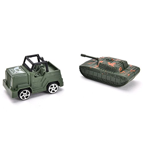 Ensunpal 307 Pcs/Set Army Soldier Toy Kits, World War II Soldiers Toy Set with Hand Bag Plastic Solider Figures Grenade Tank Aircraft Rocket Army Men Sand Scene Model by Ensunpal (Image #5)