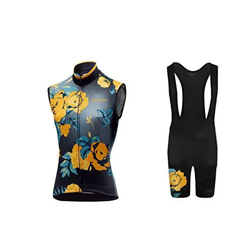 Uglyfrog Bike Wear 2019 Summer MTB Cycling Cest Clothing for Men Summer Bicycle Suit Sleeveless Jersey + 3D Padded Bib Shorts Set Triathlon Clothing HUS19DJ13