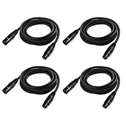 10 ft Flexible DMX Cable, JLPOW Gold-Pla...
