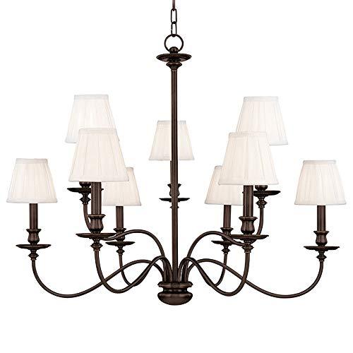 Hudson Valley Lighting 4039-OB Nine Light Chandelier 9, Old Bronze