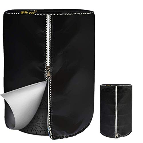 Seasonal Tire Cover,Seasonal Tire Tote & Tire Storage Bag,Waterproof Dust-Proof (Black Coated,Fits up to 28
