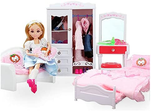 Fantastic Amazon Com Toy Doll Dream House Bedroom Princess Furniture Bralicious Painted Fabric Chair Ideas Braliciousco