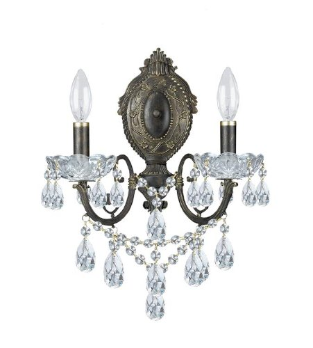 Crystorama 5192-EB-CL-SAQ Crystal Accents Two Light Sconces from Legacy collection in Bronze/Darkfinish, 7.00 inches Review