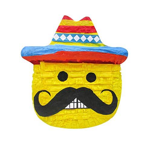 Pinatas Mexican Emoji, Fiesta Party Game, Decoration and Photo Prop for Cinco de Mayo, San Antonio Fiesta Week or Fiesta Themed Birthdays and Events]()