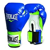 Everlast Pro Style Training Gloves (Blue/Green, 14 oz)
