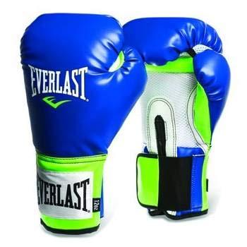 Everlast Pro Style Training Gloves (Blue/Green, 14 oz)