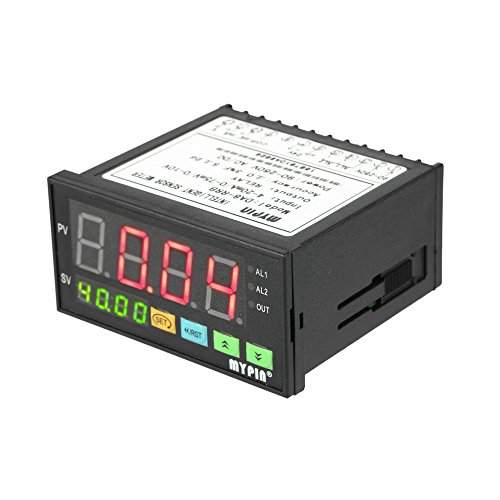 Liquid Flow Transmitter - KKmoon Multi-functional Intelligent Digital Sensor Meter LED Display 0-75mV/4-20mA/0-10V 2 Relay Alarm Output