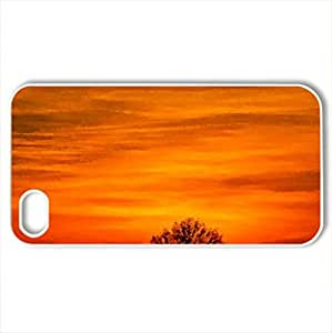 Beautiful sunsets - Case Cover for iPhone 4 and 4s (Sunsets Series, Watercolor style, White)