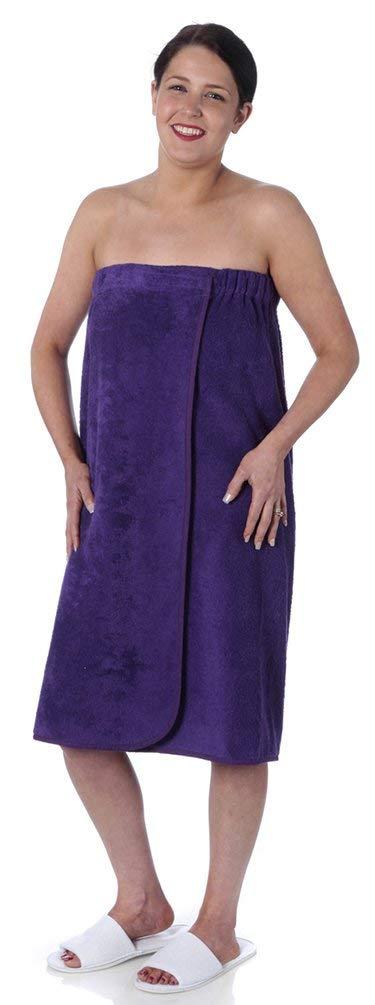 Towelsrus Spa Days Serviette de Serviette en Coton /égyptien Terry Toweling en Rose avec Dos /élastique et Attache