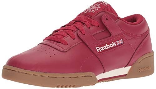 Reebok Men's Workout Clean Cross Trainer, Cranberry red/Chalk/g, 8.5 M US