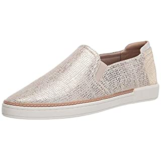 Naturalizer womens Jade Slip-ons Sneaker, Gold Leather, 11 Wide US