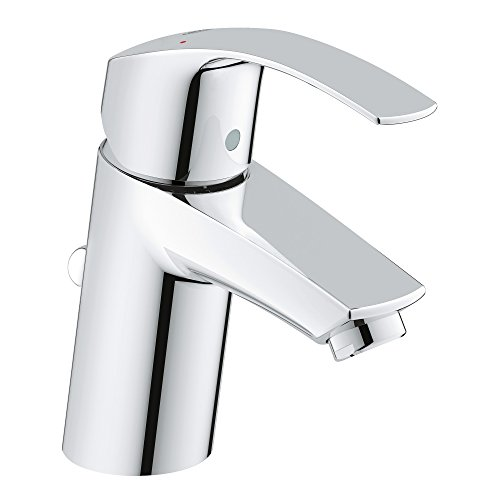 - GROHE 3264200A Eurosmart New Single-Handle Single-Hole Bathroom Faucet, 1.2 GPM, Starlight Chrome