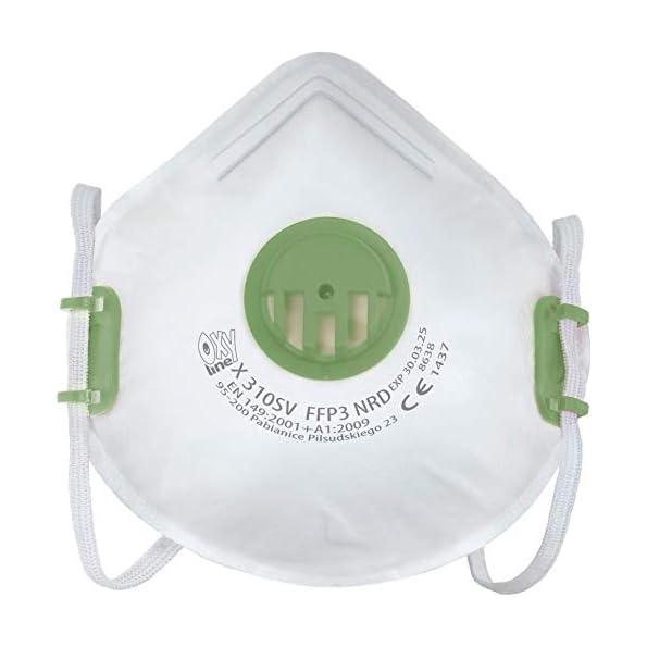 10x-Oxyline-X-310-SV-FFP3-NRD-Atemschutzmaske-Halbmaske-Staubmaske-Atemmaske-Schutzmaske-mit-Ventil