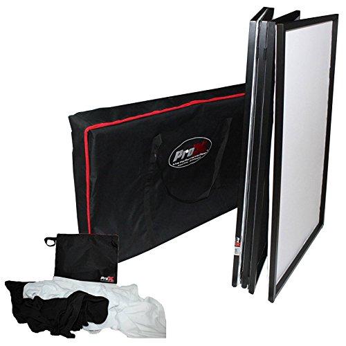 ProX XF-4X3048B Black Aluminum 4 Panel DJ Booth LED Facade & Bag - Led Black Panel
