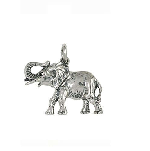 Nora S Argent Sterling 925Chaînes-Pendentif motif animal éléphant