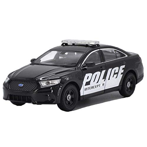 Chef Vehicle Playsets 1:24 Ford Taurus Police Car Alloy Car Metal Car Model Simulation Sports Car Real Car Collection Ornaments ( Color : Black )