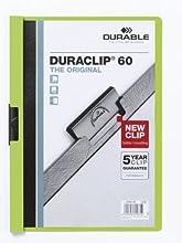 Durable Duraclip 60 - Carpeta de negocios, 30 hojas A4, 25 unidades, color verde claro