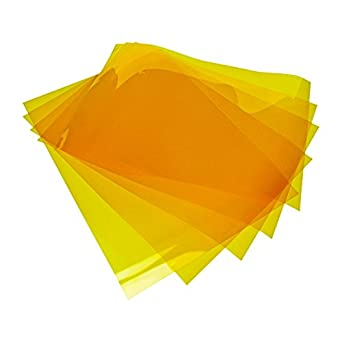 "Addicore 10 Pack Kapton Tape Sheets Polyimide 8"" X 11"" 0.06mm (2.4mil) Thick With Release Liner for 3D Printer"