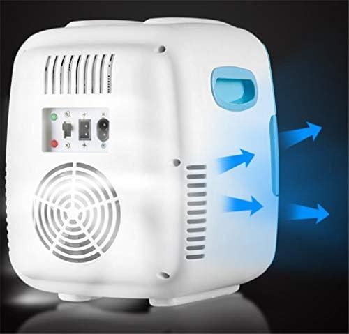 ミニクーラー冷凍庫アイスボックスシングルドア急速に学生寮カーデュアル使用4L 8L 12Lを冷却ポータブルカー冷蔵庫、 Blue 12L