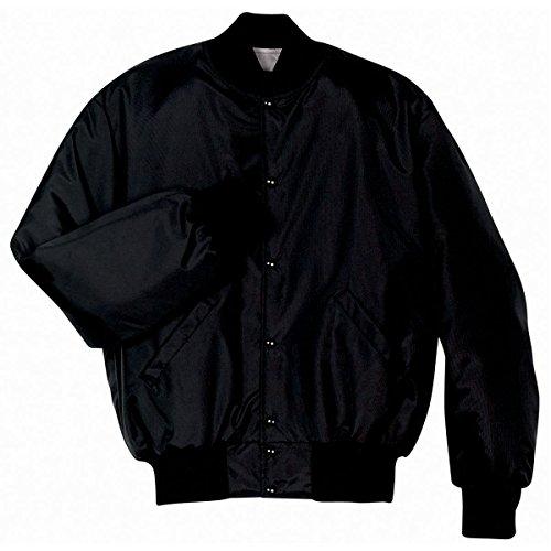 Satin Baseball Jacket (MEN'S HERITAGE JACKET Holloway Sportswear L Black)