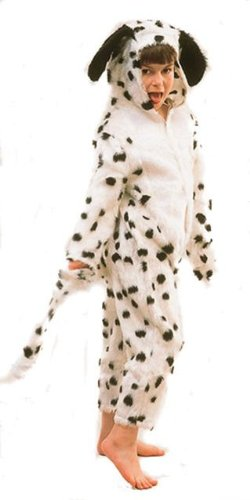 Children's Dog Costumes Uk (Dalmatian Dog Animal Childs Fancy Dress Costume M 128cm)