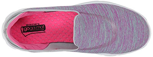 Skechers Performance Womens Go Walk 3 Force Slip-On Walking Shoe Pink/Aqua ehK8n