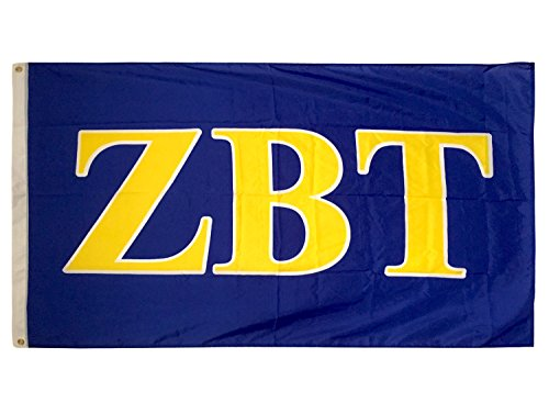 Zbt Band - Zeta Beta Tau Fraternity Letter Flag Greek Letter Use as a Banner 3 x 5 Feet Sign Decor ZBT