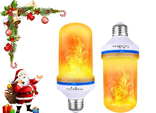 COCOMOON LED Flame Effect Fire Light Bulbs- E26 4 Modes with Upside Down Effect-Flame Bulb for Halloween/Hotel/Bar Party Decoration(1 pcs)