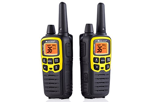 Midland - X-TALKER T61VP3, 36 Channel FRS Two-Way Radio - Up to 32 Mile Range Walkie Talkie, 121 Privacy Codes, NOAA Weather Scan + Alert (Pair Pack) (Black/Yellow) by Midland (Image #2)