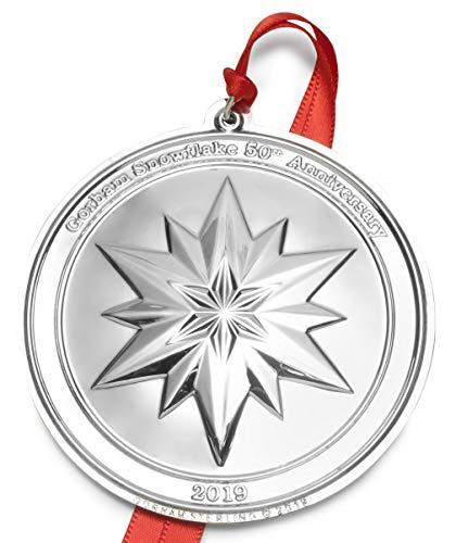 Gorham LB Set of 2 2019 Snowflake 50th Anniversary Ornament by Gorham (Image #2)