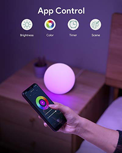 AUKEY Smart Table Lamp Works with Alexa & Google Home App Control ...