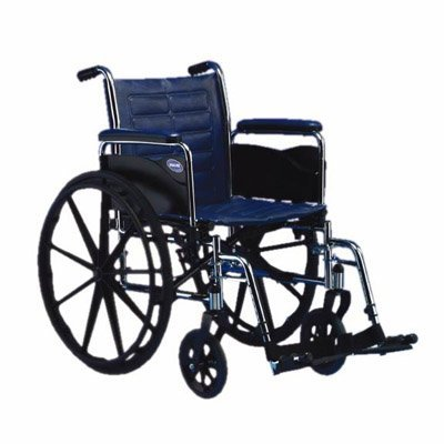 Invacare TREX20PP Tracer EX2 Wheelchair with Swingaway Footrests, 20 x 16-Inches