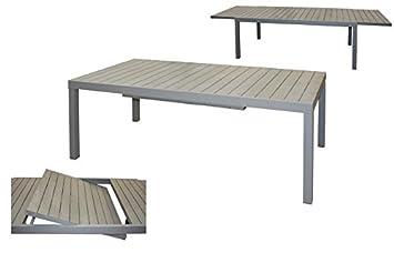 Gris 200300 Aluminium X Polywood Extensible Et En Table 100h75 OukXPZiT