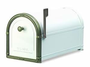 Architectural Mailboxes Coronado Mailbox White with Antique Bronze