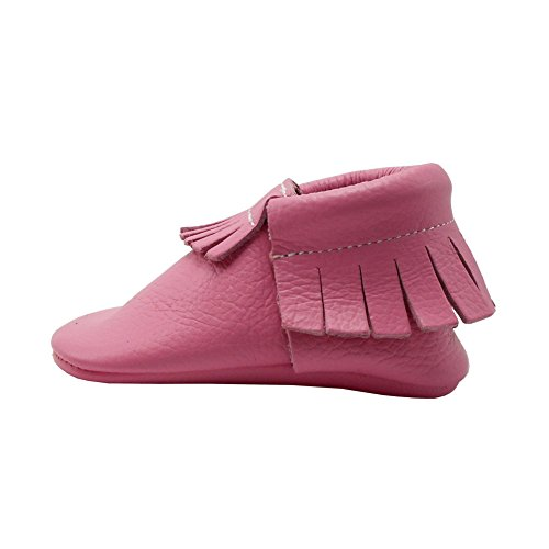Pictures of YIHAKIDS Baby Tassel Shoes Soft Leather Sole 3